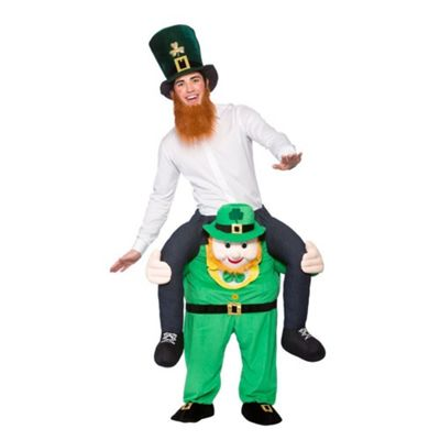 St Patricks Day Adults Fancy Dress One Size Carry Me Leprechaun Costume