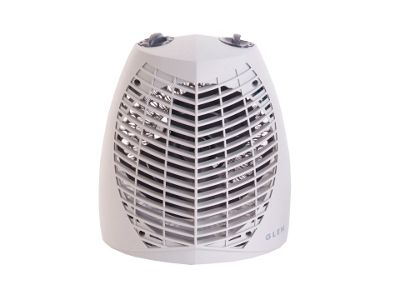 Glen GU2TS 2kW Upright Fan Heater with Thermostat & Heat Settings