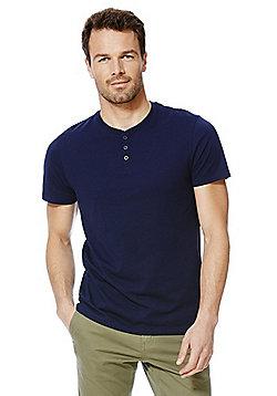 F&F Marl Grandad T-Shirt - Navy