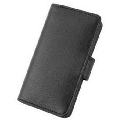 Tortoise™ Genuine Leather Folio Case iPhone 5 Black
