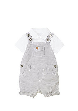 F&F Polo Bodysuit and Dungarees Set - Multi