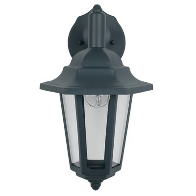 Designer Dark Grey Hanging Lantern Outdoor Wall Light