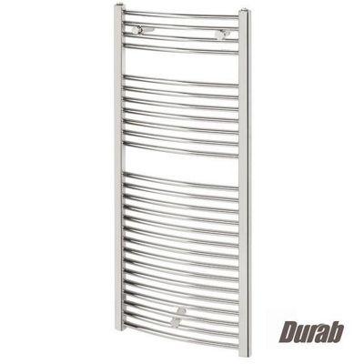 Durab Curved Ladder Towel Rail 1118mm High x 500mm Wide CHROME