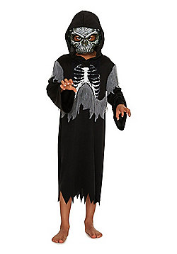 F&F Grim Reaper Halloween Costume - Black