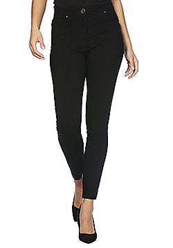 F&F 5 Pocket Bengaline Skinny Trousers - Black