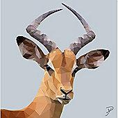Birthday, Anniversary Greetings Card - Impala Animal Design - Blank