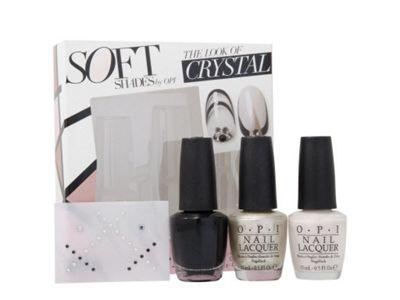 OPI Soft Shades The Look Of Crystal 3 x 15ml Nail Polish Swarovski New Boxed