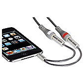 Hama AluLine 3.5mm cable adapter 3x RCA Socket for MP3 playes/Mobile