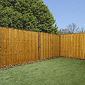 Mercia Vertical Hit and Miss Fence Panel 5ft Dipped