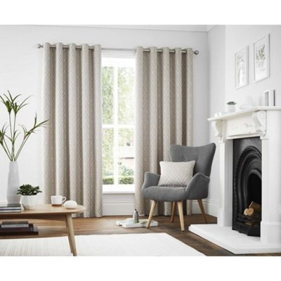 Curtina Navo Graphite Eyelet Curtains - 46x72 Inches (117x183cm)