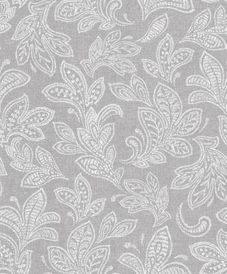 Crown Calico Leaf Soft Grey Wallpaper