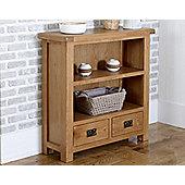 Worcester - Oak Bookcase / 2 Drawer Small Storage Unit