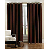 Riva Home Panama Eyelet Curtains - Chocolate