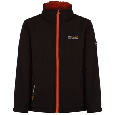 Regatta Boys Tato IV Softshell Jacket Black 5-6