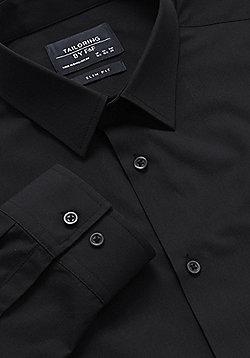 F&F Easy Care Slim Fit Shirt - Black