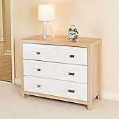 Bianco Oak Effect 3 Drawer Chest