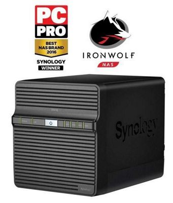 Synology DS416J/8TB-IW 4-Bay 8TB(4x2TB Seagate IronWolf) Network Attached Storage Solution