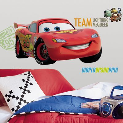 Disney Cars 2 Giant Lightning McQueen Wall Sticker
