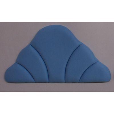 Amani Shell Upholstered Headboard in Velour Cornflower - Double