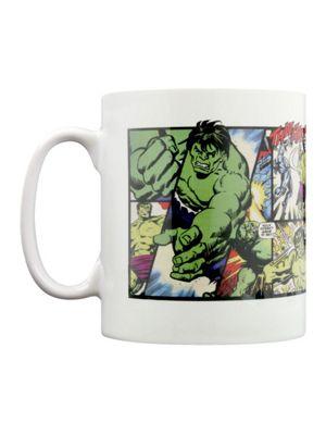 Marvel The Hulk Retro Hulk Panels White 10oz Ceramic Mug