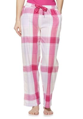 F&F Checked Lounge Pants Pink/Multi 8-10