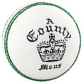 Readers County Crown Cricket Ball - White - Mens 5 1/2 oz