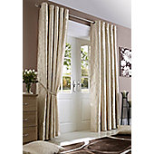 "Midtown Eyelet Curtains - Cream - 66"" Wide x 90"" drop"