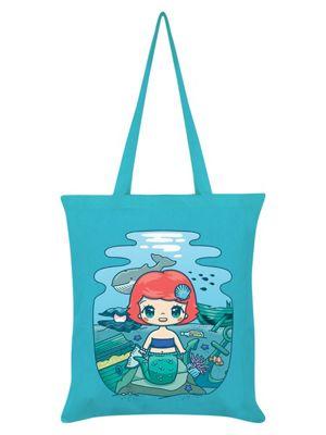 Mio Moon Under The Sea Azure Blue Tote Bag 38x42cm