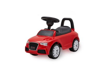 RideonToys4u Audi Style Ride on Push Car Red 6 Melodies and Horn Ages 3-8 Years