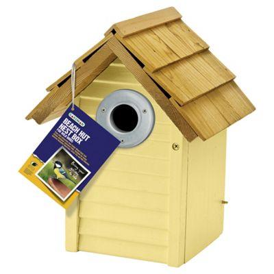 Gardman A01680 Beach Hut Nest Box Yellow
