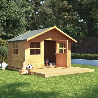 6x7 BillyOh Lollipop Max Children Wooden Playhouse Outdoor Playground - Premium with Platform