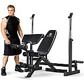 Marcy MWB-838 Deluxe Olympic Weight Bench with Squat Rack