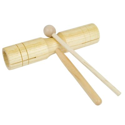 Wooden Agogo Block- Double Tone Block & Beater - Medium