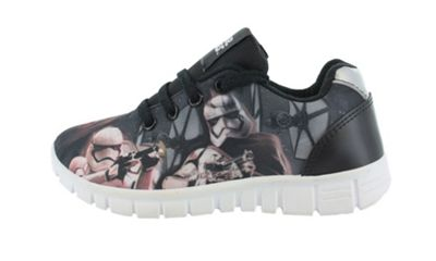 Boys Star Wars The Last Jedi Black Lace up Casual Trainers UK Size 7