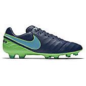 Nike Tiempo Legacy II FG Football Boot - Coastal Blue - Blue
