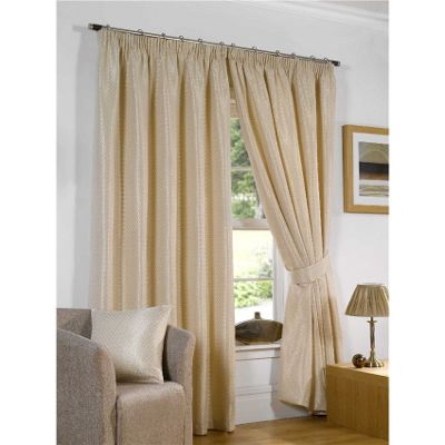 Venice Pencil Pleat Curtains 168 x 137cm - Silk