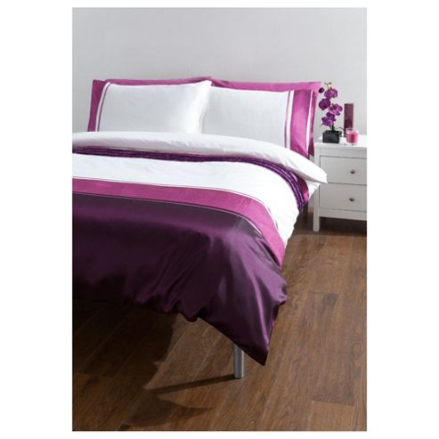 Tesco Cosmo Double Duvet Cover Set, Purple