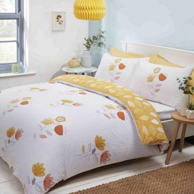 Emeli duvet cover and pillowcase set - terracotta - single
