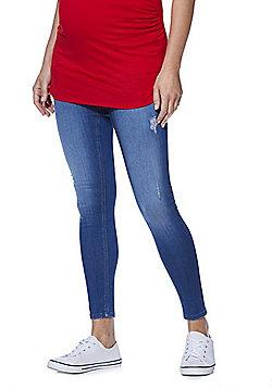 F&F Contour Under-Bump Skinny Maternity Jeans - Mid Wash