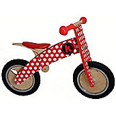 Kiddimoto Kurve Balance Bike (Red/White Dotty)