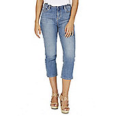 F&F Authentic Mid Rise Cropped Jeans - Mid wash