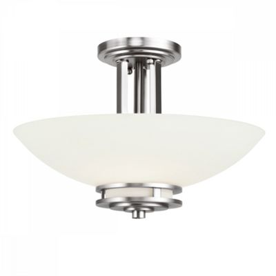 Polished Chrome 3lt Semi Flush - 3 x 3.5W LED G9