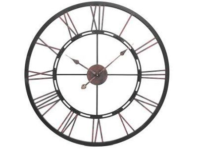 Metal Skeletal wall clock, large