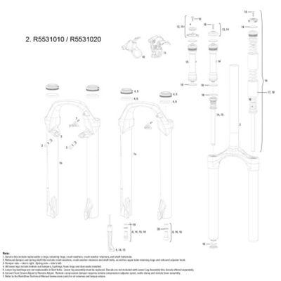 RockShox CSU XC30 Aluminium Steerer 1 1/8