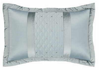 Sequin Cluster pillow sham pair - duck egg