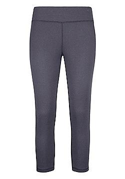 Mountain Warehouse Womens Lightweight Leggings Isocool Design with Antibacterial - Grey