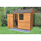 Forest Garden 8x6 Overlap Dip Treated Reverse Apex Shed