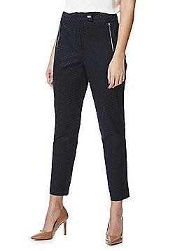 F&F Jacquard Skinny Trousers - Navy