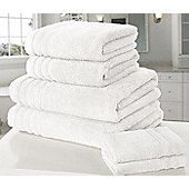 Zero Twist Bath Towel - White