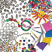 Bead & Jewellery Making Super Value Pack for Children to Design and Make Personalised Bracelets - Creative Kit for Kids (1600 Pieces)